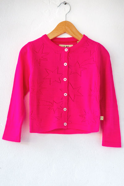 le big hot pink patricia cardigan
