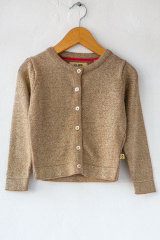 le big gold sparkle cardigan