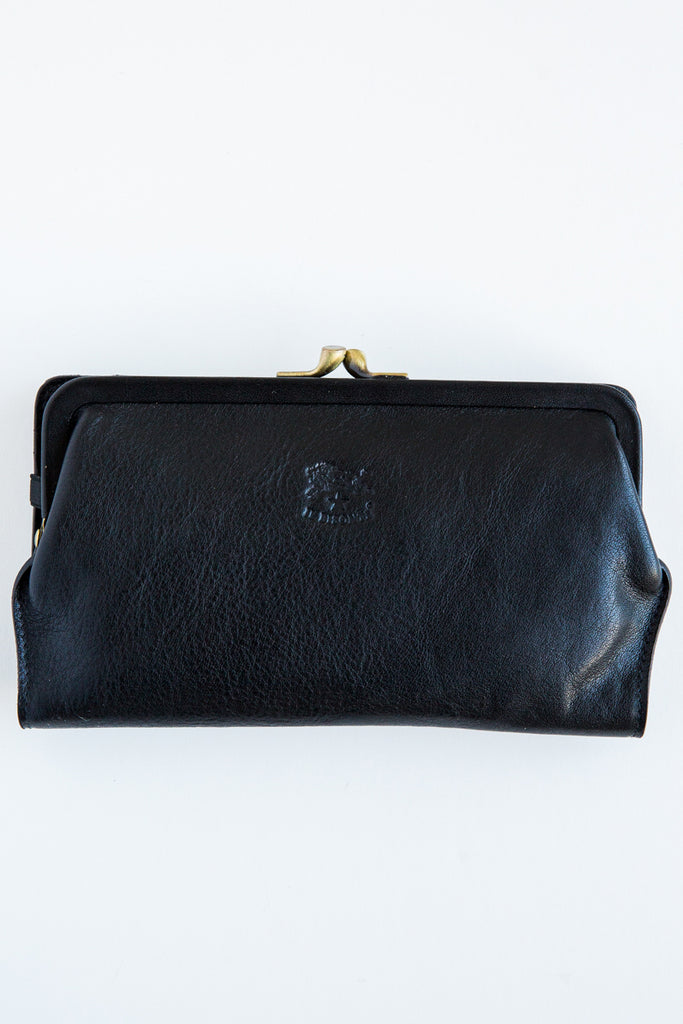 il bisonte c0671 navy wallet