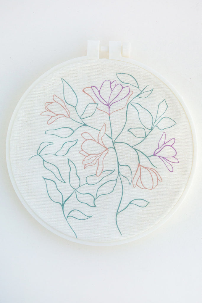 KINUA floral embroidery kit