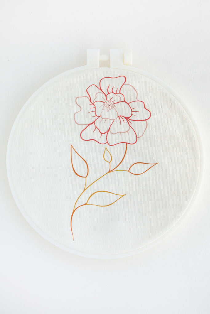 KINUA flower embroidery kit