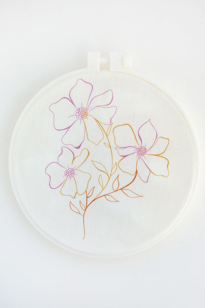 KINUA 3flower embroidery kit