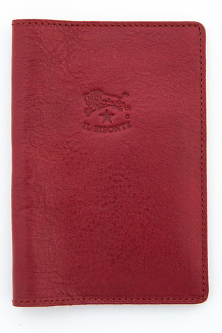 il bisonte red passport holder