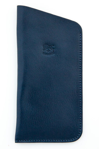 il bisonte blue open top eye glass case