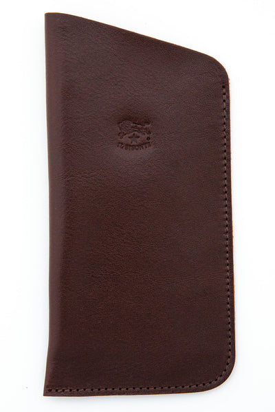 il bisonte brown open top eye glass case