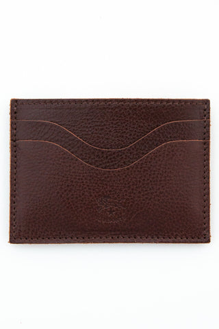 il bisonte brown card case