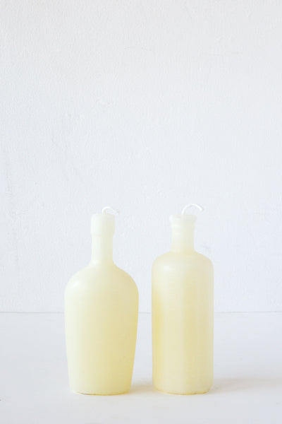 greentree cream bottle candle