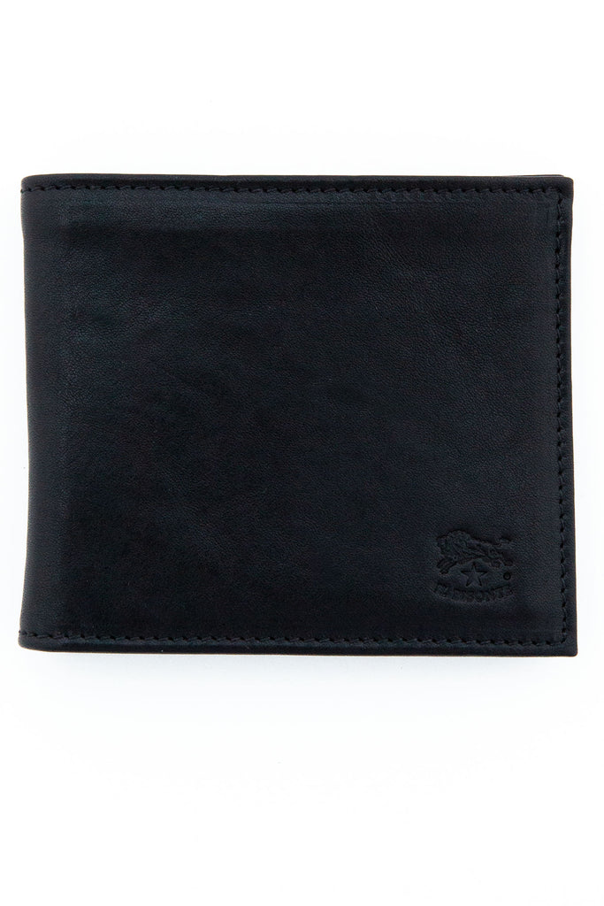 il bisonte black bi-fold wallet