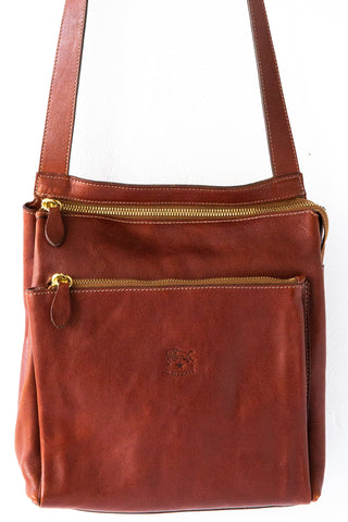 il bisonte cognac jamie cross body bag