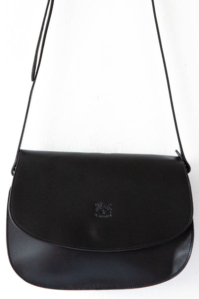 il bisonte flat black 966 large irina bag