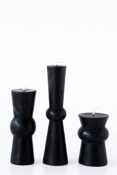 greentree black josee pillar candle