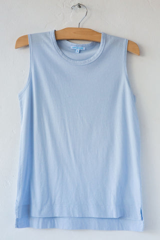 lost & found dust blue jersey sleeveless tee