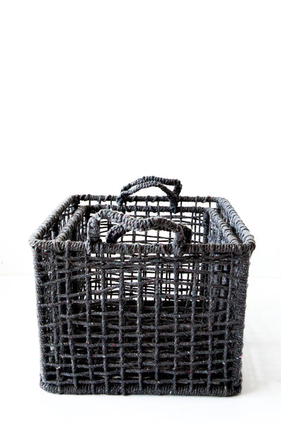 lost & found grey basket