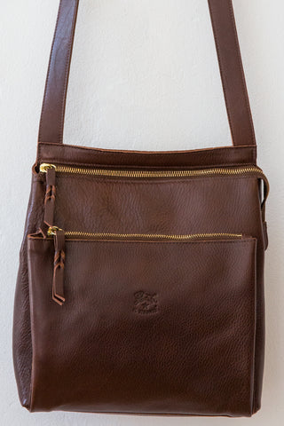 il bisonte brown cross body bag
