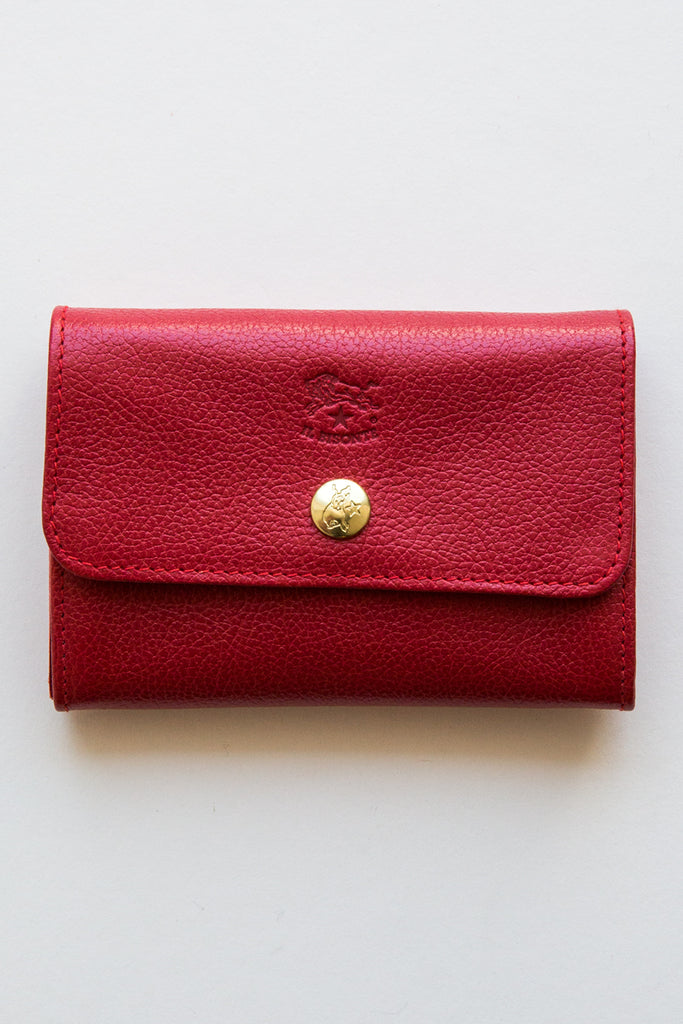 il bisonte red liberty snap wallet
