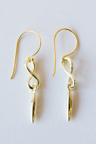 dennis higgins gold infinity earrings