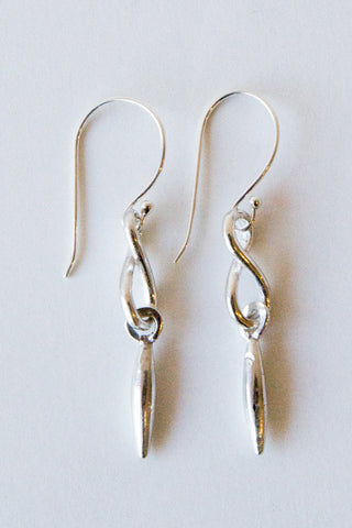 dennis higgins silver infinity earrings