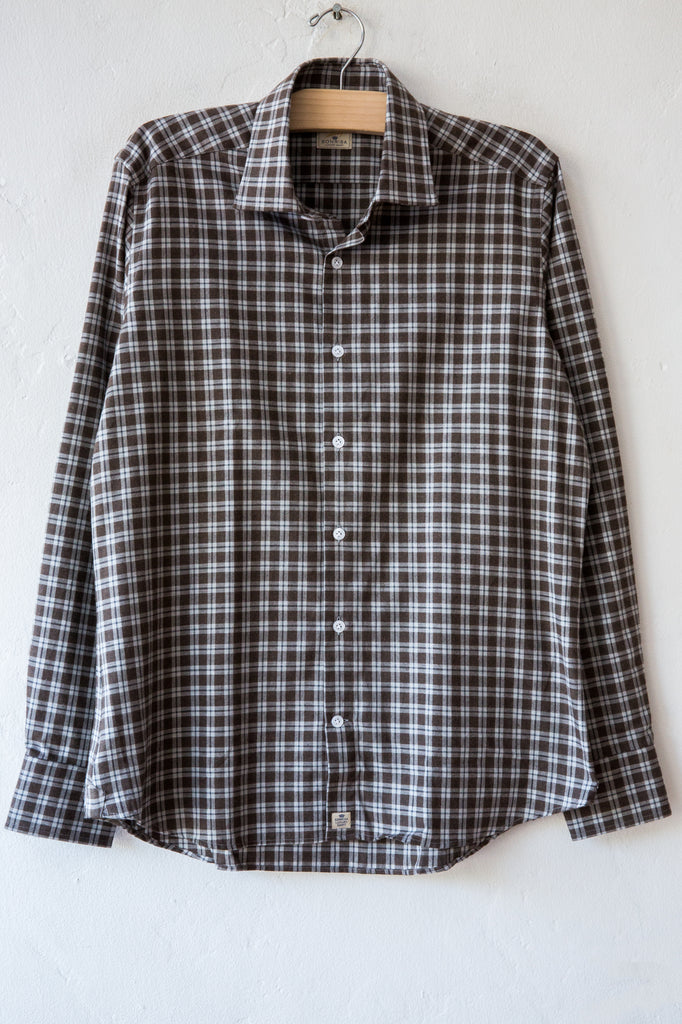 sonrisa grey/brown plaid shirt