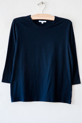 lost & found navy 3/4 sleeve tee