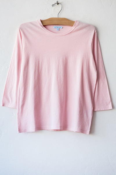 lost & found lt pink 3/4 sleeve tee