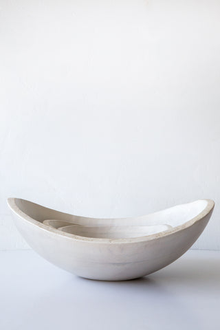 peterman white pearl bowls