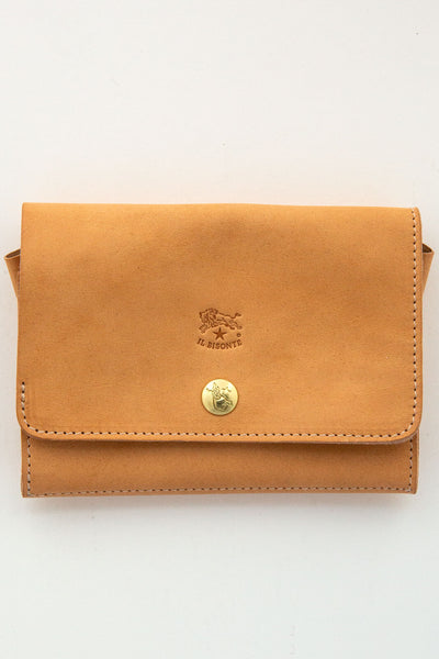 il bisonte small natural wallet