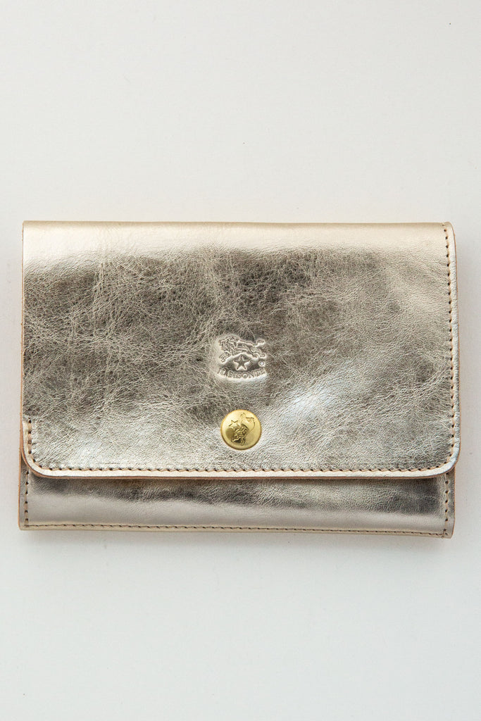 il bisonte small gold wallet