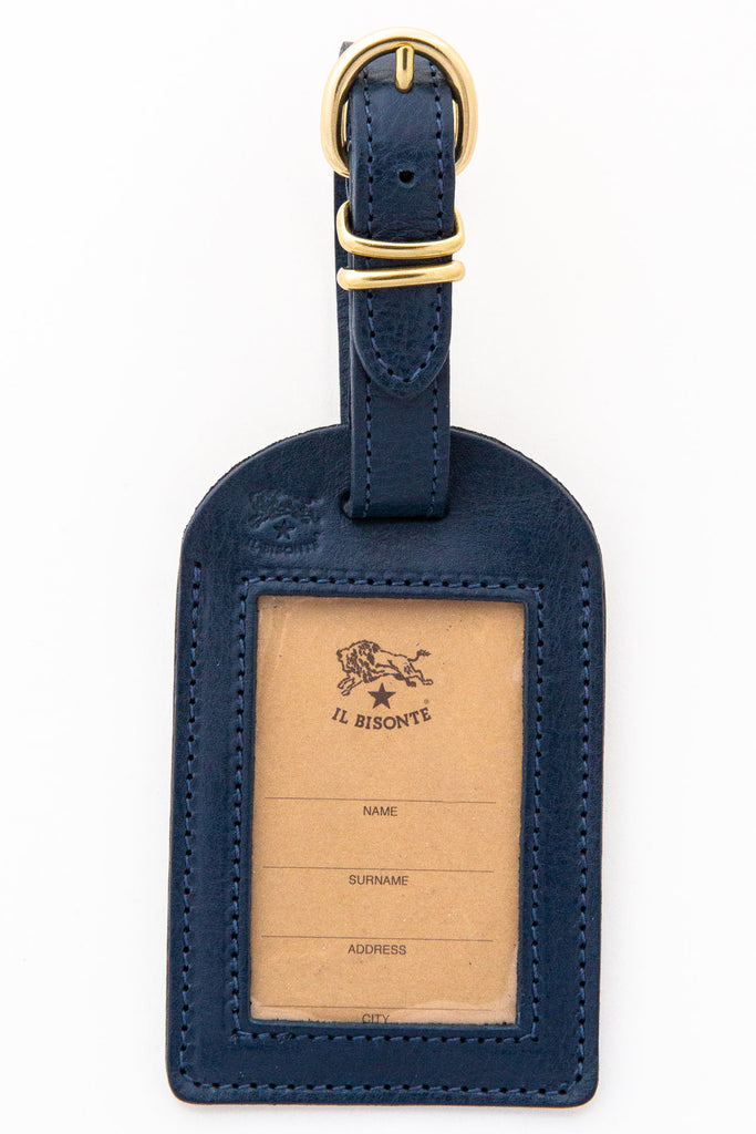 il bisonte navy luggage tag