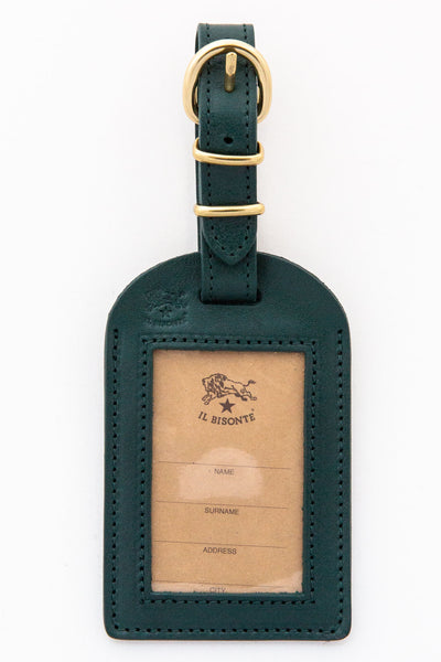 il bisonte green luggage tag