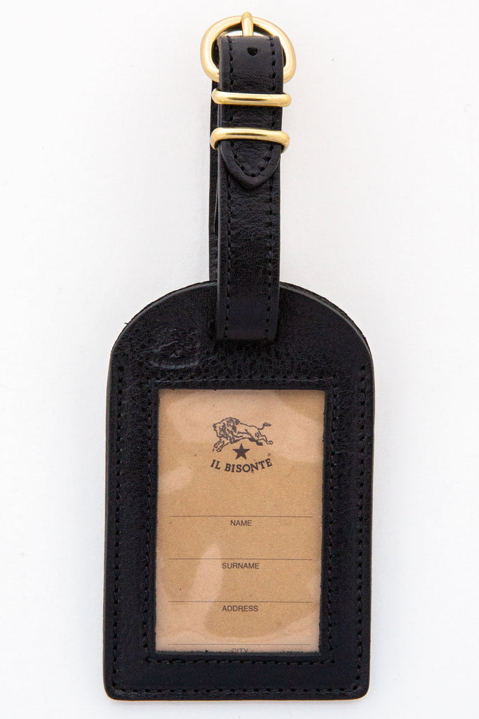 il bisonte black luggage tag