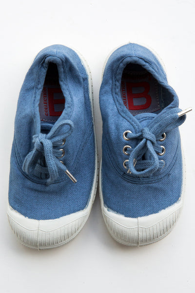 bensimon denim lace tennis