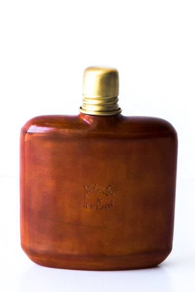 il bisonte cognac hip flask