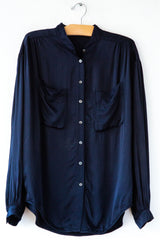 raquel allegra navy cargo top