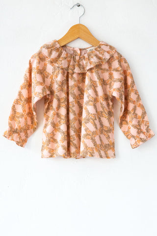 louis louise pink floral lilie exotic top
