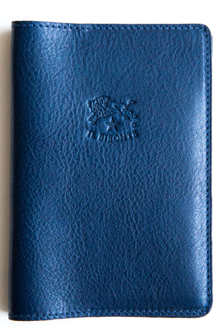 il bisonte blue passport holder