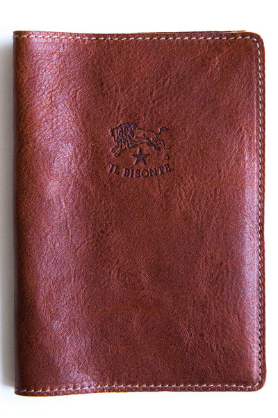 il bisonte cognac passport holder