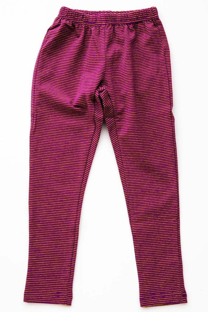 Siaomimi Cranberry Stripe Leggings
