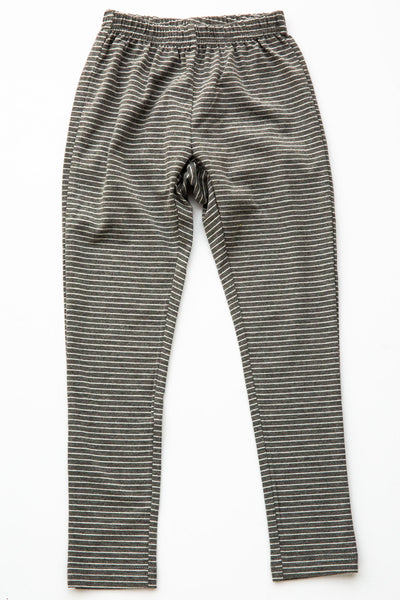 Siaomimi Charcoal Stripe Leggings