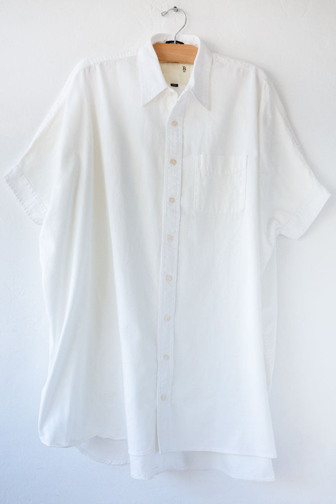 R13 White Oversized Button up Dress
