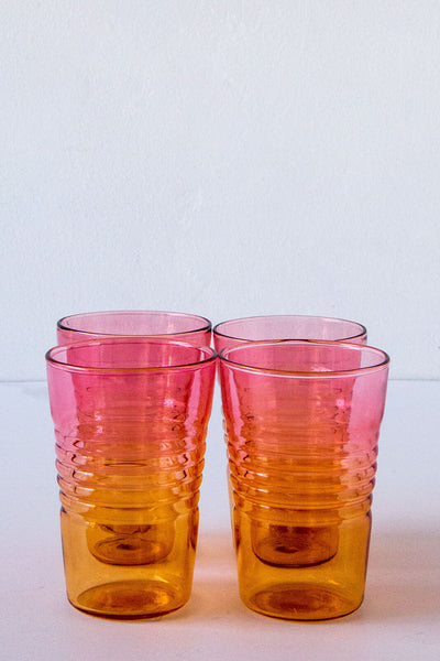 Design Ideas Ombre Pink/Orange Drinking Glass