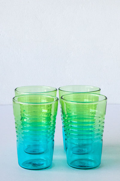 Design Ideas Ombre Blue/Green Drinking Glass
