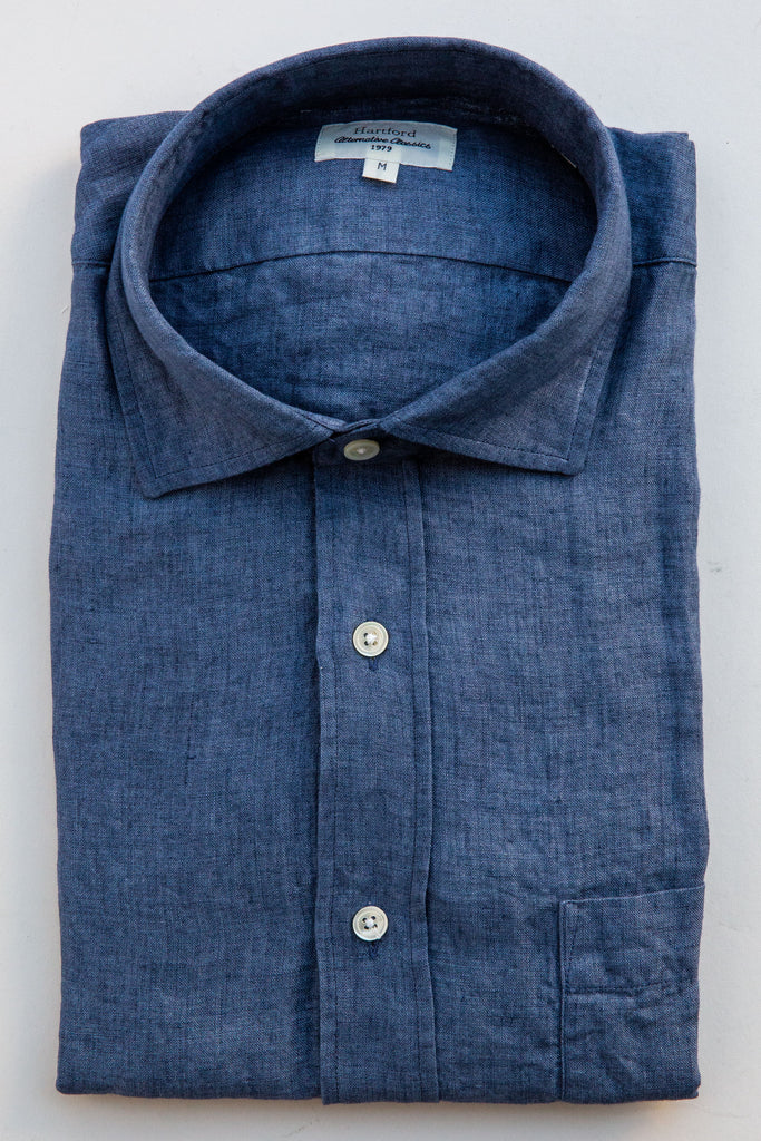 Hartford denim paul linen shirt