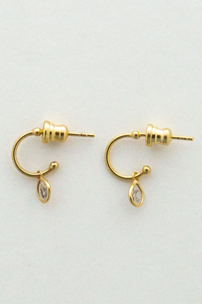 Marie Laure Chamorel Drop Mini Hoop Earrings