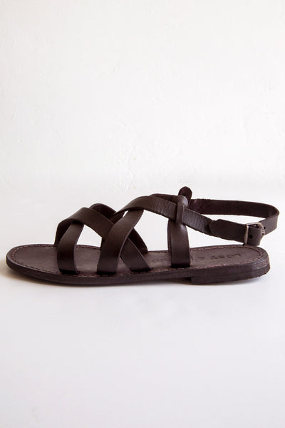 lost & found black tuscan criss cross sandal