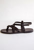 lost & found black roman sandal
