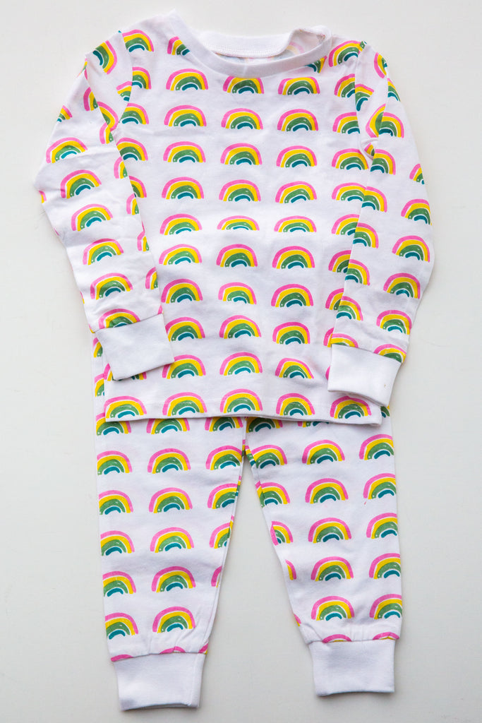 Eight Thousand Miles Rainbows Pajama Set