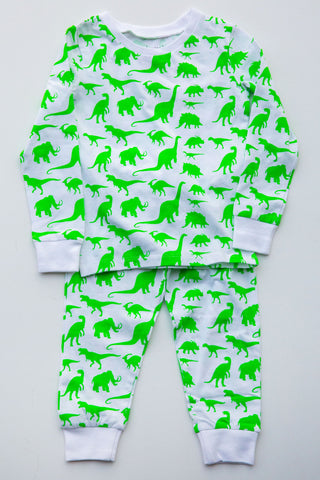 Eight Thousand Miles Dinosaur Pajama Set