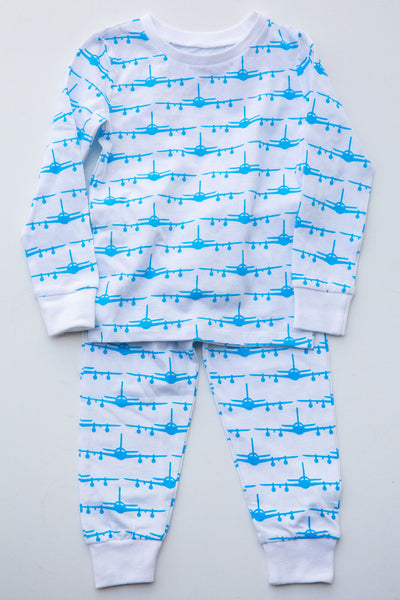 Eight Thousand Miles Airplane Pajama Set