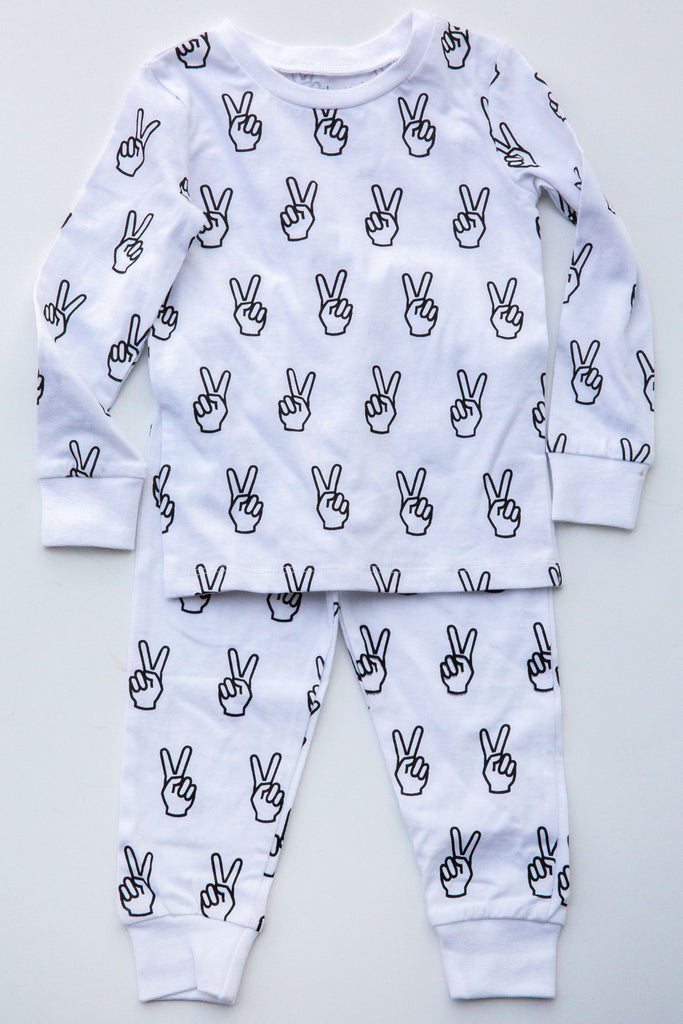 Eight Thousand Miles Peace Pajama Set