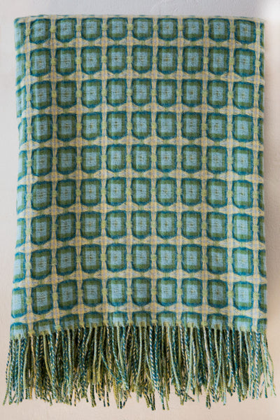 paulette rollo  basket weave aqua throw